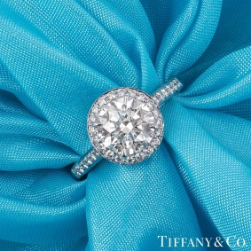 Tiffany & Co. Platinum Diamond Soleste Ring 1.43ct H/IF